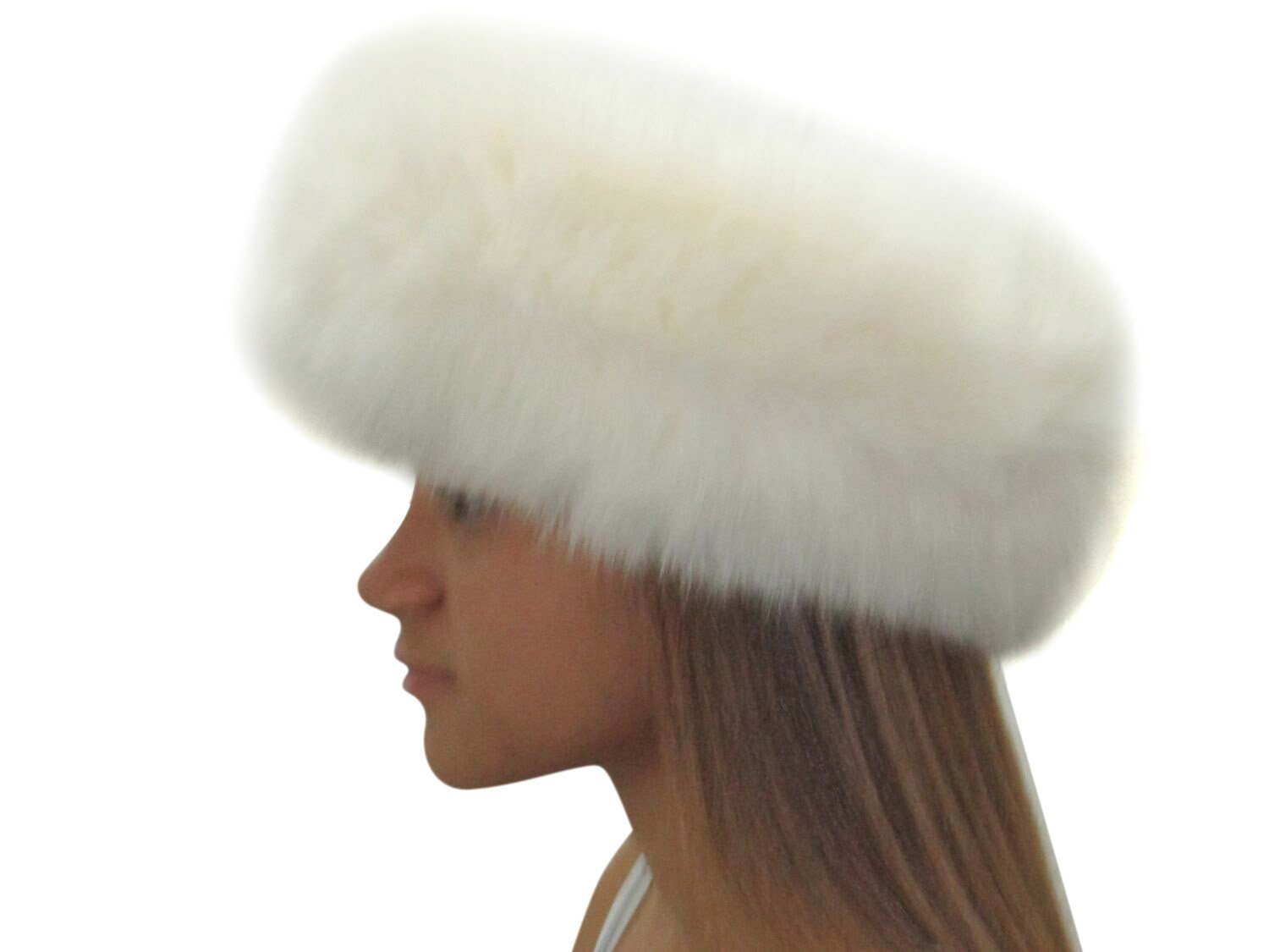 4 inches Ivory Fox Headband by FursNewYork