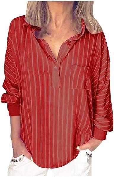 VJGOAL Camisas para Mujer Tallas Grandes Blusas Sueltas con ...