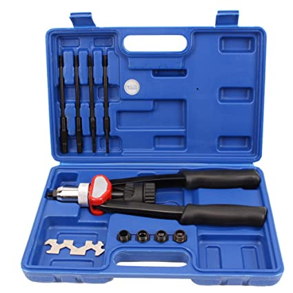 CCLIFE Pistola remachadora manual para tuercas remachables M5 M6 M8 M10 M12