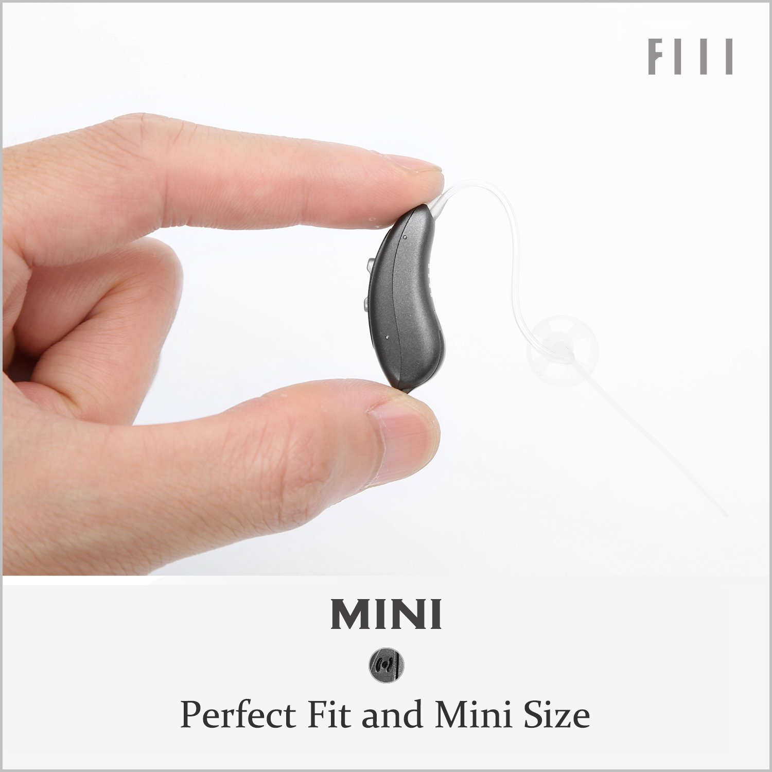 Fiil Hearing Amplifier Digital Volume Control Sound Living Aids Amplifiers Accessories Battery For Left Ear Right Mini Adjustable Audiologist Designed
