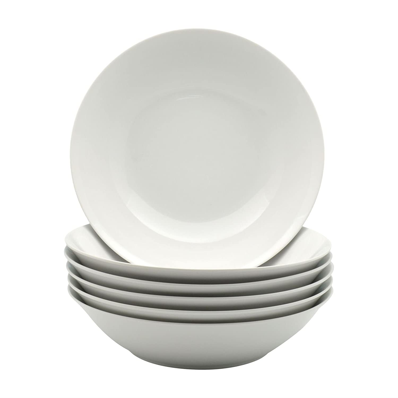 Argon Tableware White Large Pasta Salad Bowls - 253mm (10