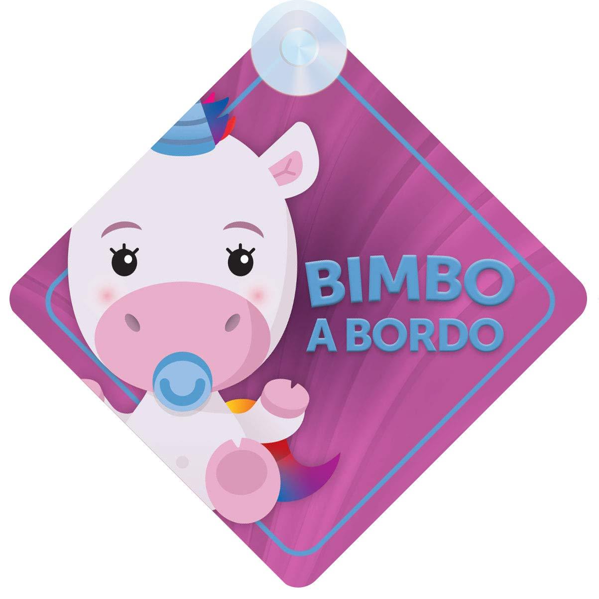 Bimbo a Bordo//Bambino a Bordo Segno Auto Regalo Unicorno Design