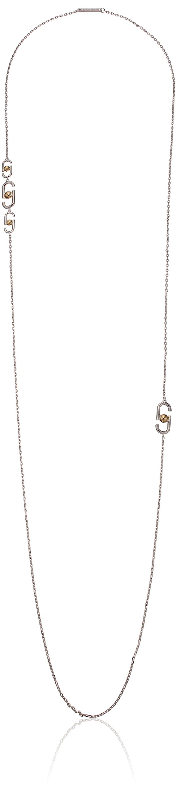 Marc Jacobs ''Resort 2016'' Silver Multi-Icon Double Wrap Strand Necklace