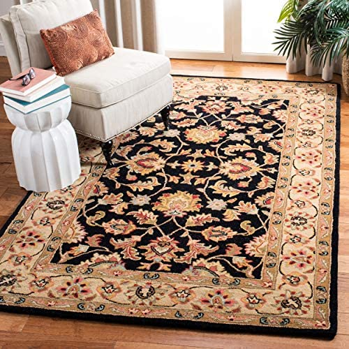 Safavieh Heritage Collection HG957A Handcrafted Traditional Oriental Black and Gold Wool Area Rug 8'3″ x 11'