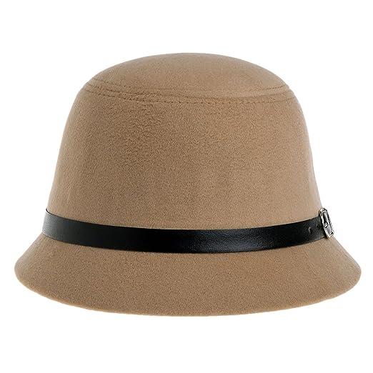 b1c7d1690f4 Vbiger Bowler Hat Fedora Derby Hats Vintage Cloche Hats Bucket Hats for  Women (Beige)