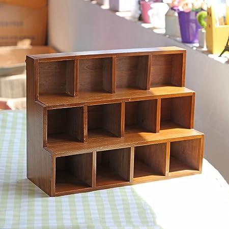 Caja de almacenaje de madera sólida, hace la vieja ardilla creativa ardiente del escritorio de la