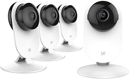 YI Home Camera, IP Security Surveillance System with Night Vision on iOS, Android App – Cloud Service Available Home Camera 4pc