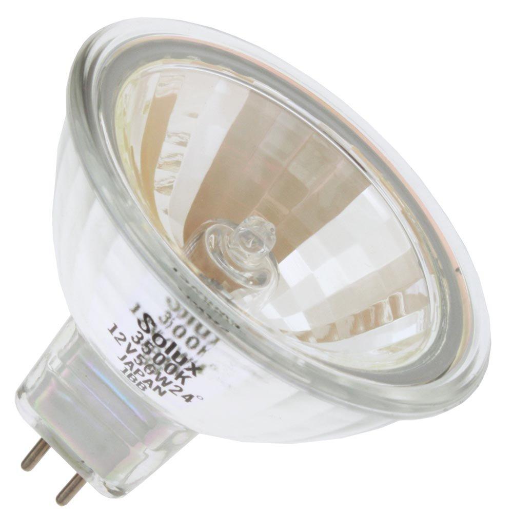 EIKO Q50MR16/CG/35/24, 50 Watt, MR16, Twist-Lock (GU5.3) Base Light Bulb (1 Bulb) by Eiko (Image #1)