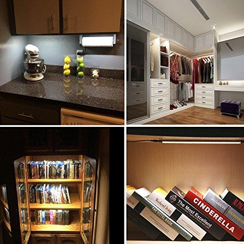 counter kitchen lighting. LED Under Cabinet Light Bar, ALOTOA Dimmable Counter Kitchen Lighting,  Remote Control, 4 W/Panels, Counter Kitchen Lighting