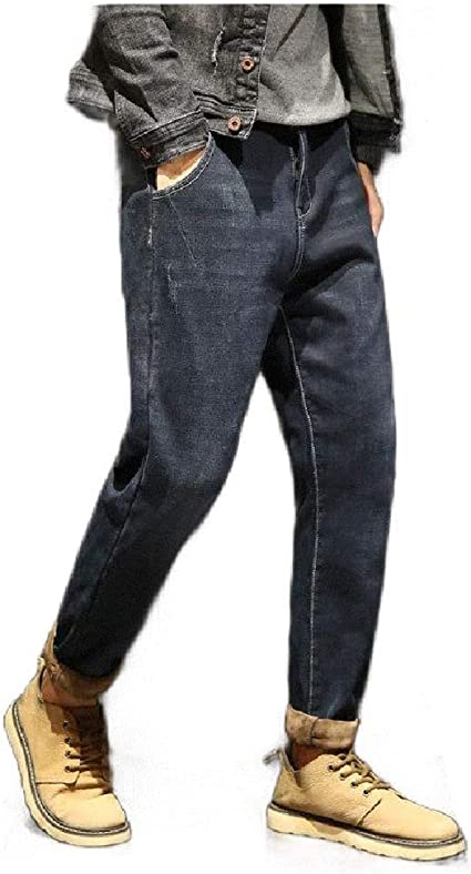 EnergyWD Men's Casual Harem Classic-Fit Fashion Loose Tapered Denim Jeans