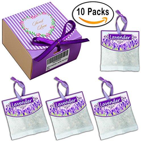 10 Packs Best Moth Protection Natural Lavender Sachets For