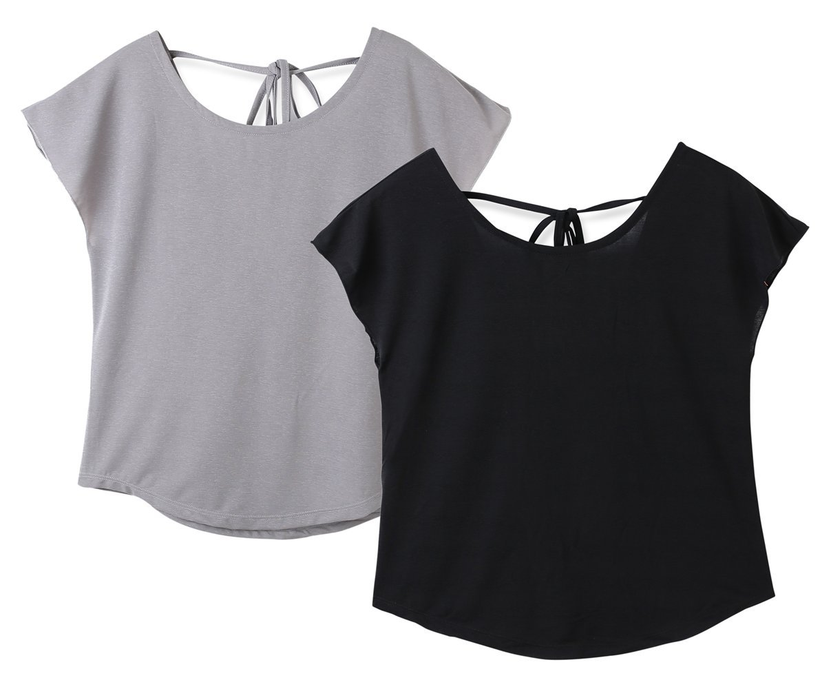 Srizgo Sport Tops Damen 1er / 2er Fitness Shirts weich schnell trocknend Yoga Tank Tops Srizgo UK