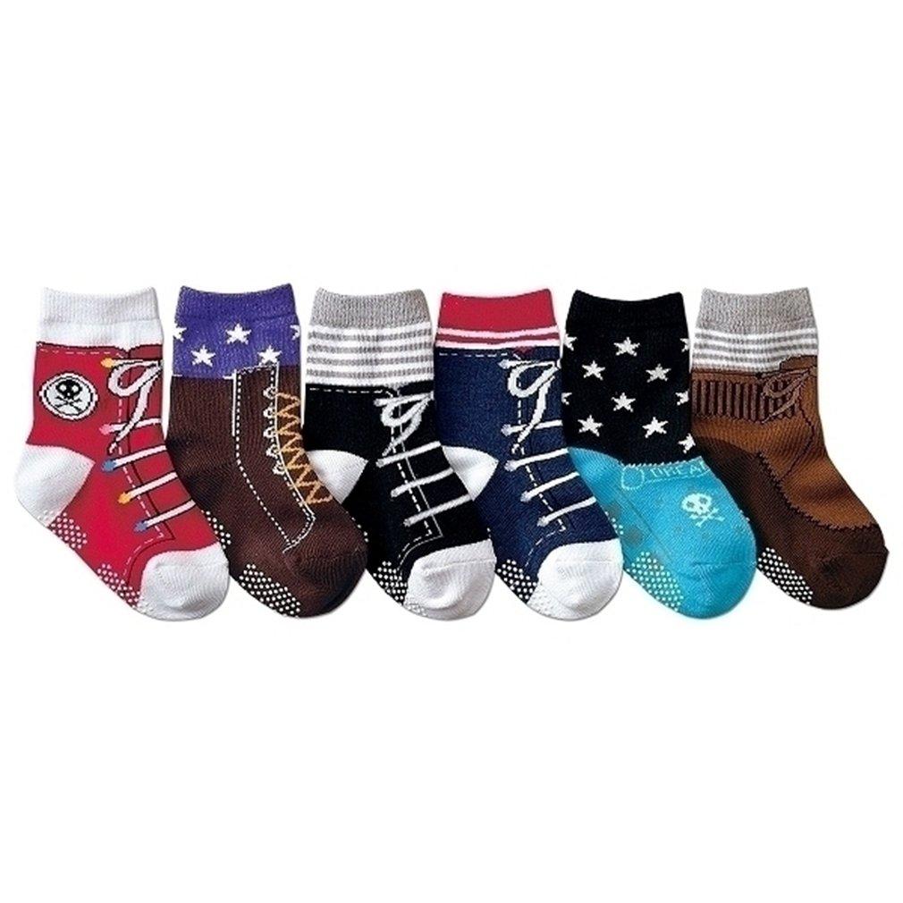 JT-Amigo Calcetines Antideslizantes para Bebés (Pack de 6 Pares) Baby-Sock-6Pairs-Boys