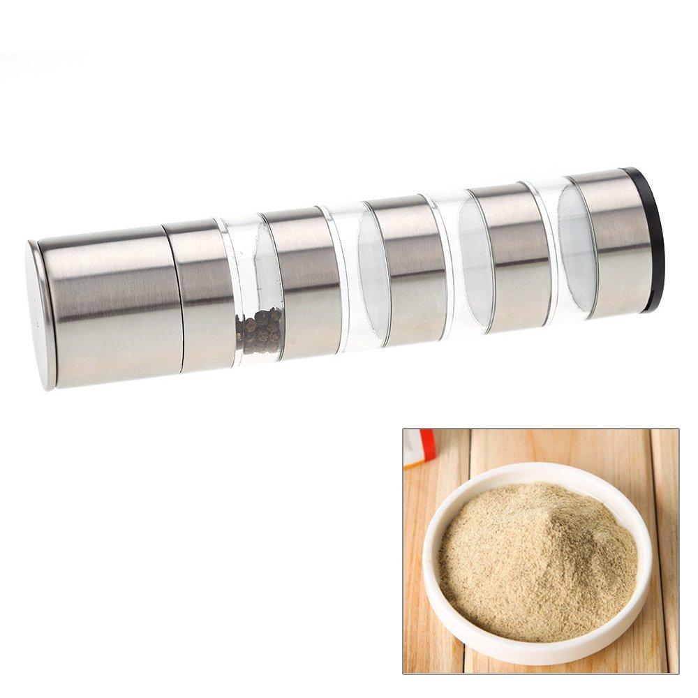 Pyrsun(TM) Stainless Steel Portable Manual Pepper Grinder Salt Muller Kitchen Seasoning Grinding Tool Pepper Mill Kitchen Accessories