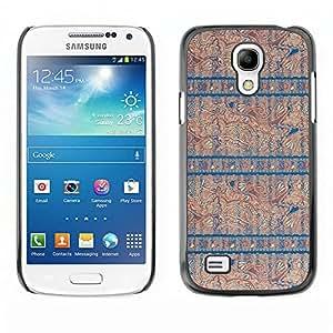 MOBMART Carcasa Funda Case Cover Armor Shell PARA Samsung Galaxy S4 Mini i9190 - The Blue Pattern Of Knowledge