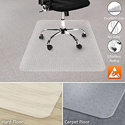 Office Marshal Anti-Static Carpet Floor Office Chair Mat - 100% Polycarbonate - Performa Series - Multiple Sizes