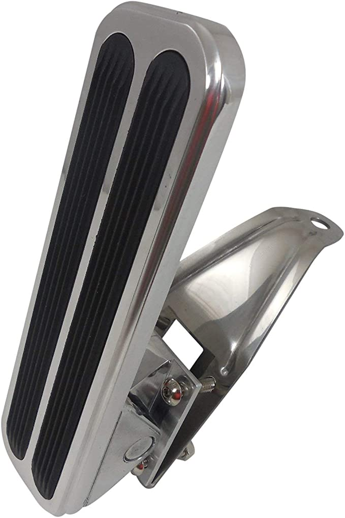 Racing Power Company R8601X Polished Aluminum Gas Pedal with Aluminum Pad Arm