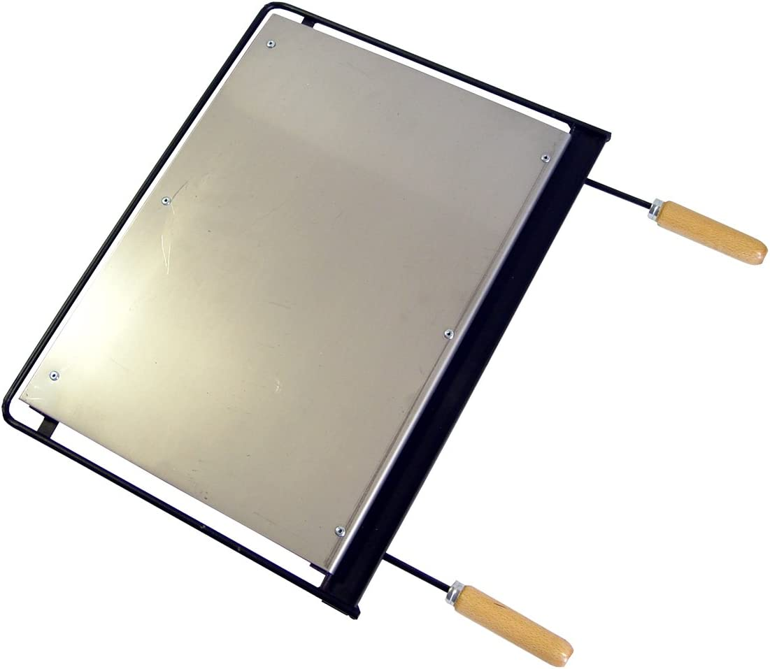 IMEX EL ZORRO Plancha para Barbacoa, INOX, 56 x 41 cm, Gris, 71611