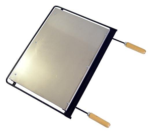 IMEX EL ZORRO Plancha para Barbacoa, INOX, 49 x 41 cm, Gris, 71632