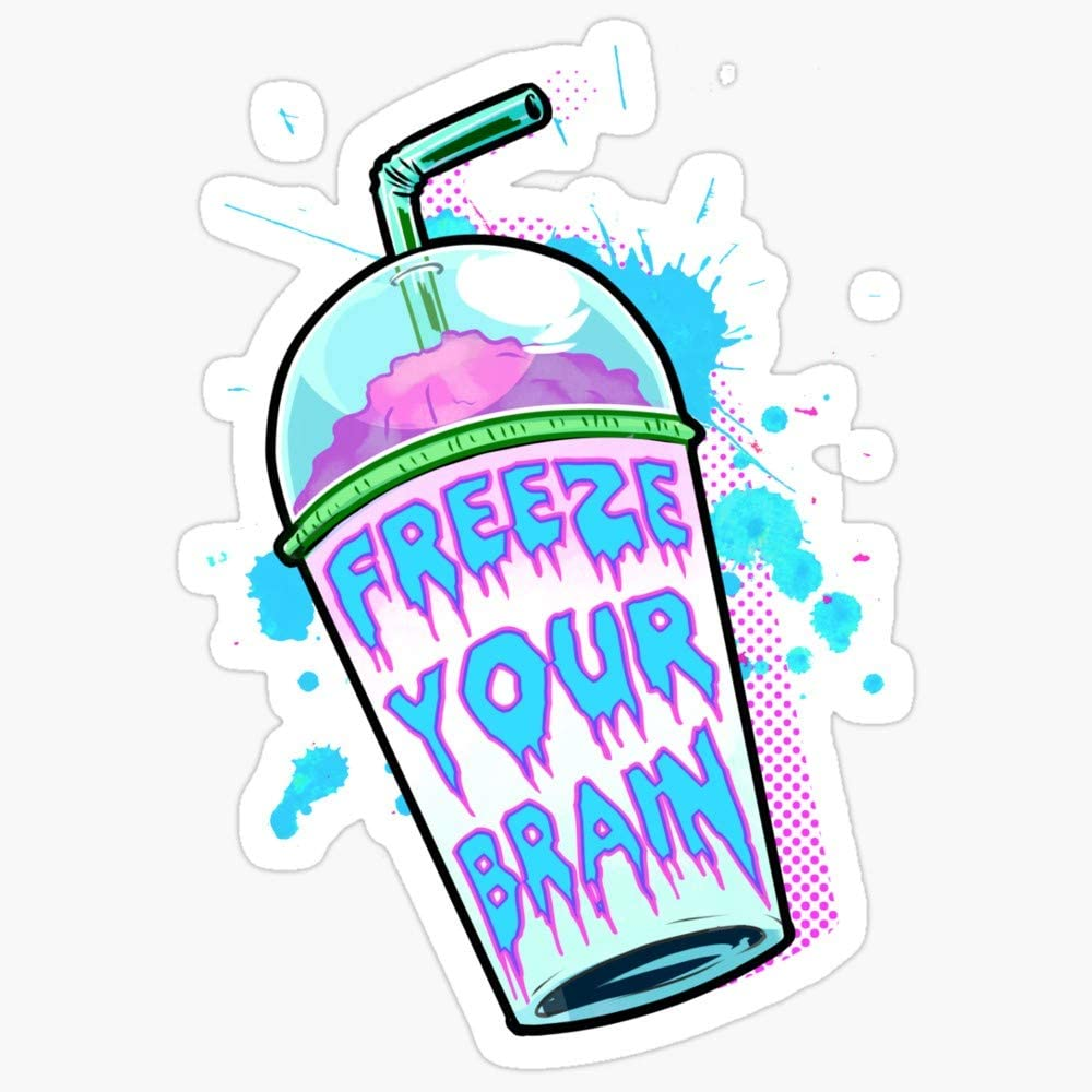 BeliNZStore Freeze Your Brain Stickers (3 Pcs/Pack)