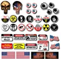 38 pack of Crude Humor Hilarious Hard Hat Prank Decal Joke Sticker Funny Laugh Construction LOL