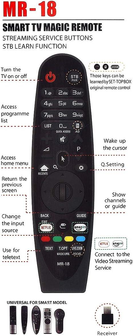 Mando a distancia universal mágico para LG AN-MR18BA AN-MR600G AN ...