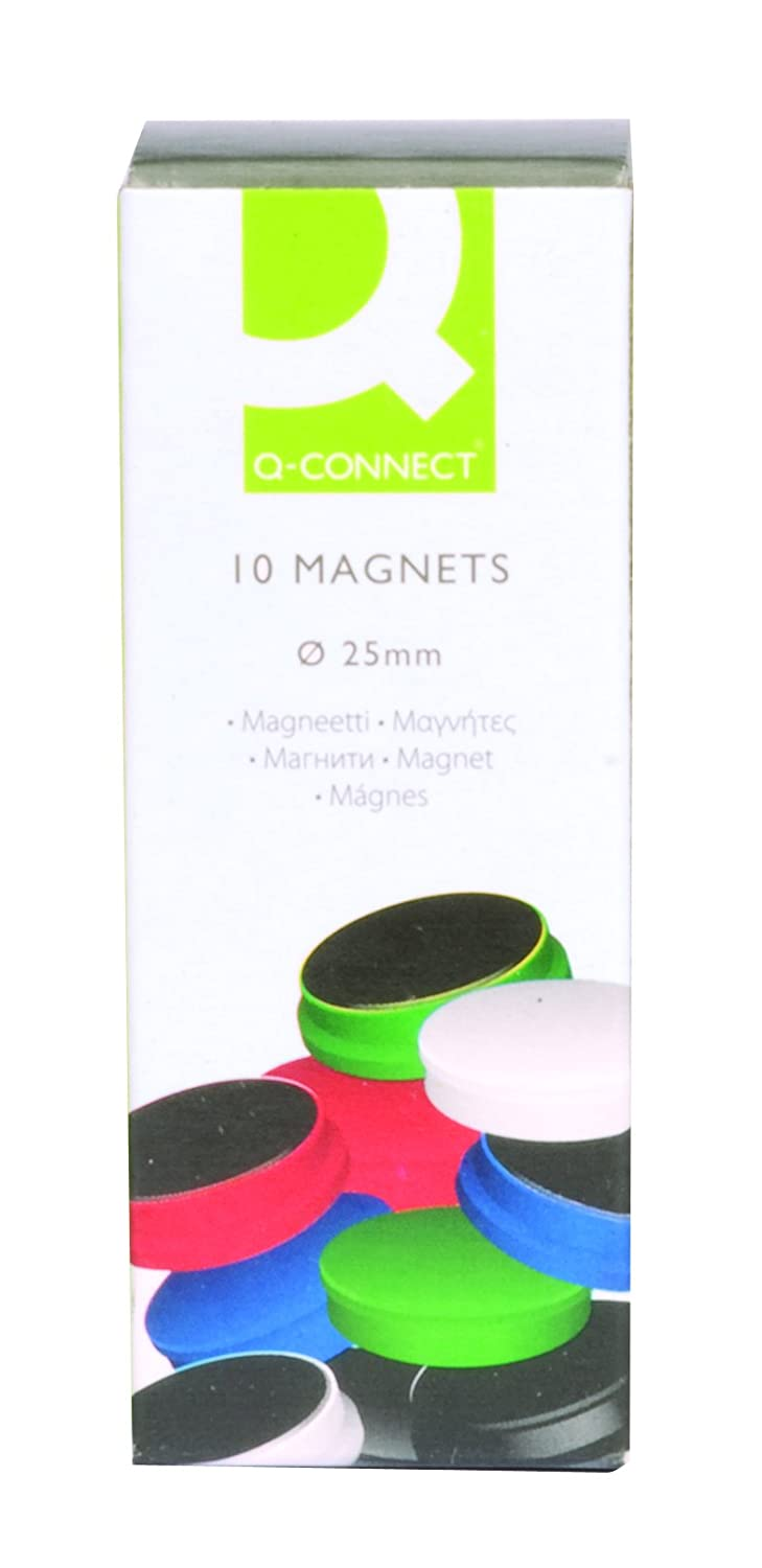 Q-Connect KF02643 Assorted 25mm Magnet (Pack of 10) Q Connect