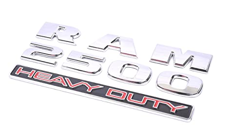 1 Aimoll 1pc RAM 2500 Heavy Duty Emblem,3D ABS Stickers Nameplates Auto Emblem for Ram 2500