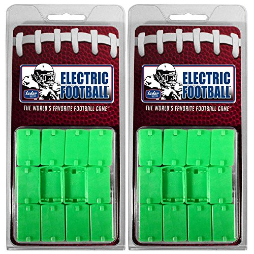 (Tudor Games PL2SSFRB-2PK Electric Football Pro Line 2-Clip Strong Rookie Straight Front Bases, 24, Green (Pack of 24))