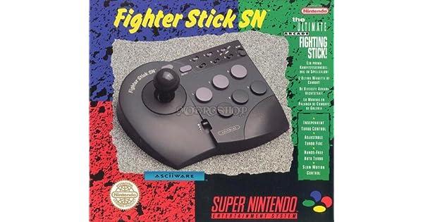 Fighter Stick SN スーファミ用 連射コントローラ ファイタースティックSN: Amazon.es: Videojuegos