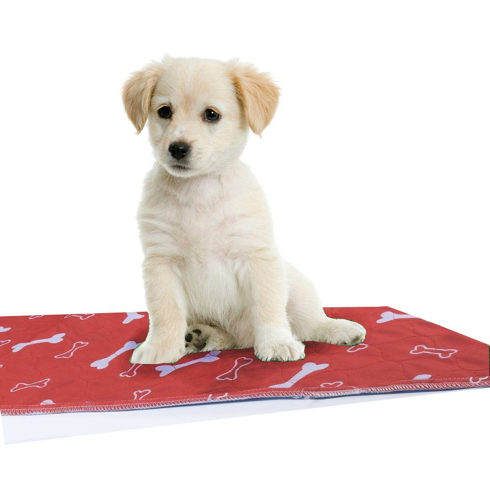 Premium Dog Pee Pads - 3 Layer Protective Reusable and Waterproof Dog Training Pee Pad with Non-Slip Barrier 32'' x 36'' Suitable for All Breeds