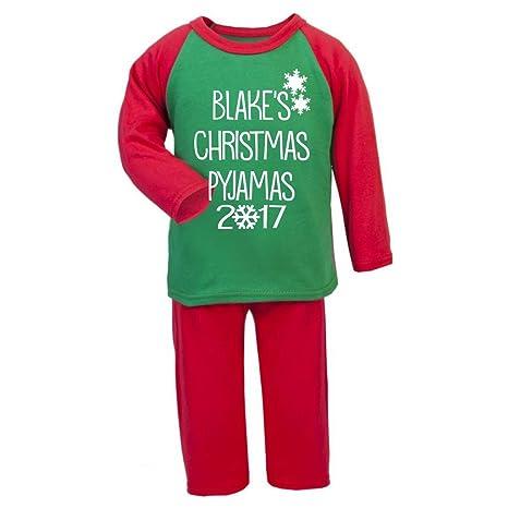 Personalizado Navidad Pijama 2017 Navidad infantil pijama infantil Navidad regalos Pjs de Navidad niños Christmas Eve