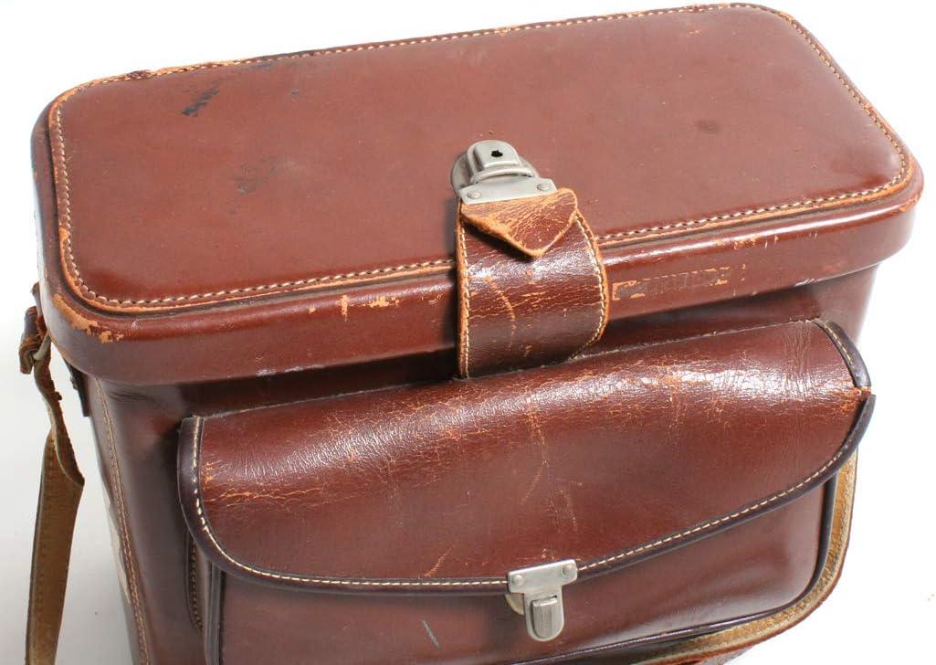 Vintage Camera Bag////1940s Leather Bag////Carrying Case