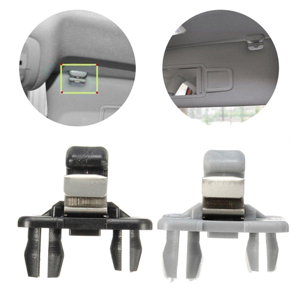xbwwt Interior Sonnenblende Haken Clip Grau Halterung f/ür Audi A1 A3 A4 A5 Q3 Q5 grau