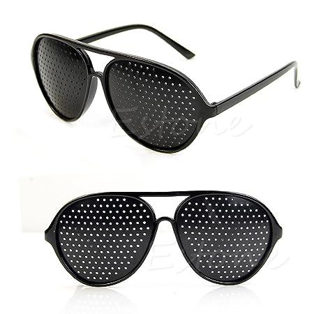 dbbe09c329 Lamdoo Anti-Fatigue Vision Care Eyesight Improver Pinhole Glasses Hole EYE  Glasses NEW  Amazon.co.uk  Kitchen   Home