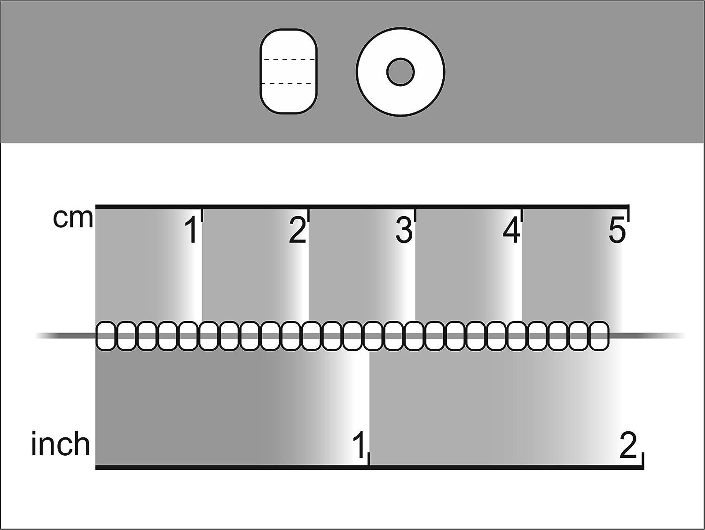 Seed Beads 20gr 9//0 2,4-2,8 mm White Chalk Ceco Rotondo Perle di Rocailles con Foro Rotondo