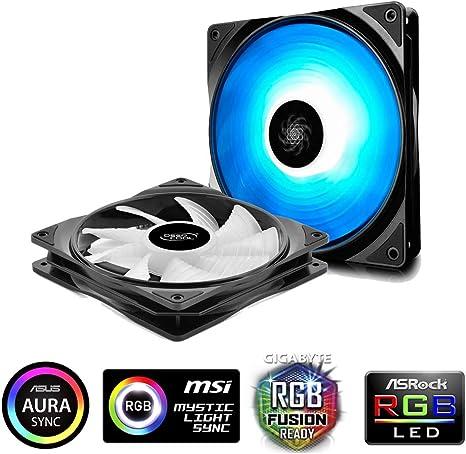 DeepCool rf140 Ventiladores RGB 140 mm, PWM Ventilador silencioso ...