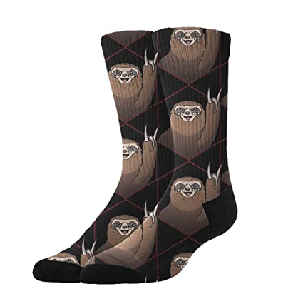 Unisex Stockings Funny Sloth With Sunglasses Casual Crew Sports Socks