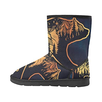 Classic Winter Snow Outdoor Warm Durable Mid Calf Snow Boots for Men Boy