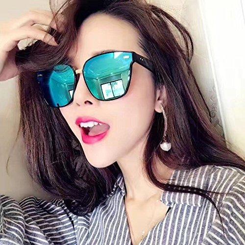super de soleil boîte de soleil lunettes de Bleu Shop pour de Lunettes lunettes et soleil femmes soleil hommes large Lunettes de polarisées 6 miroir qZq7xwYf