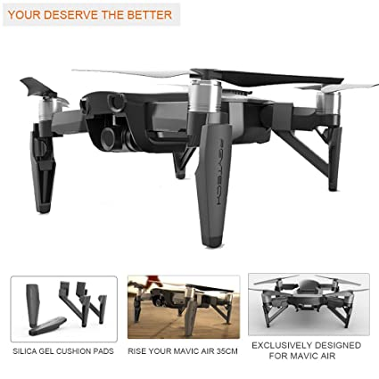 ee05298b067 Image Unavailable. Image not available for. Color: PGYTECH Extended Landing  Gear Riser for DJI Mavic Air ...