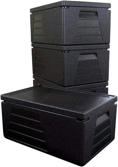 4 x Termo profesional, contenedor isotérmico, recipiente térmico, caja aislante, nevera GN 1/1 con 230 mm de altura útil: Amazon.es: Hogar