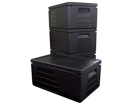 4 x Termo profesional, contenedor isotérmico, recipiente térmico, caja aislante, nevera GN