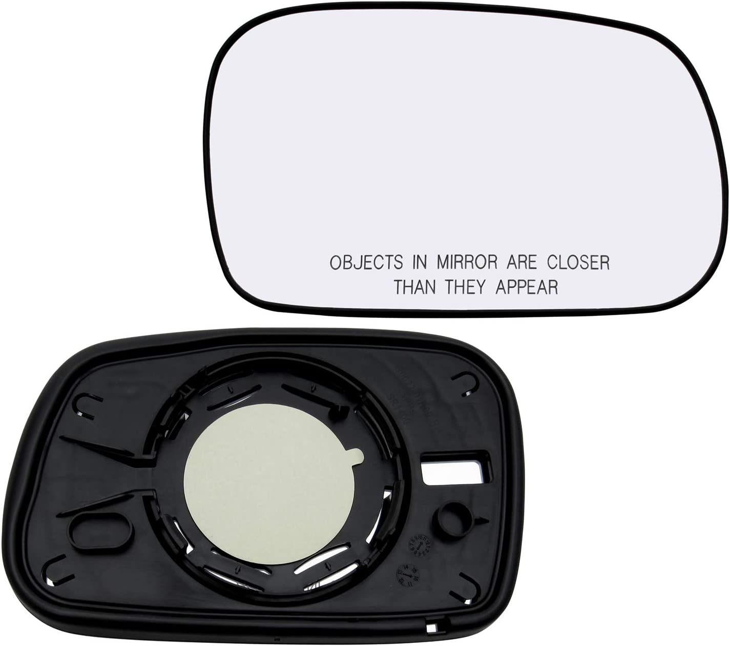New Replacement Passenger Side Mirror Non-Heated Glass W Backing Compatible With 2006-2011 Honda Civic Coupe 2-Door Only Sold By Rugged TUFF