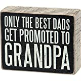 Primitives by Kathy Box Sign, Promoted to Grandpa, 5 by 4-Inch