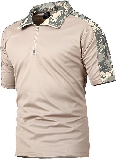 Camisa de Combate para Hombres Caza táctica Militar Polo de Manga Corta Held Airsoft Camuflaje Camiseta Uniforme táctico Ropa Deportes al Aire Libre para Multicam ACU x-Small: Amazon.es: Ropa y accesorios