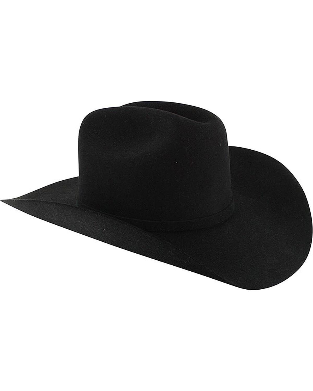 Stetson Men's Apache 4X Buffalo Felt Hat Black 7 1/2