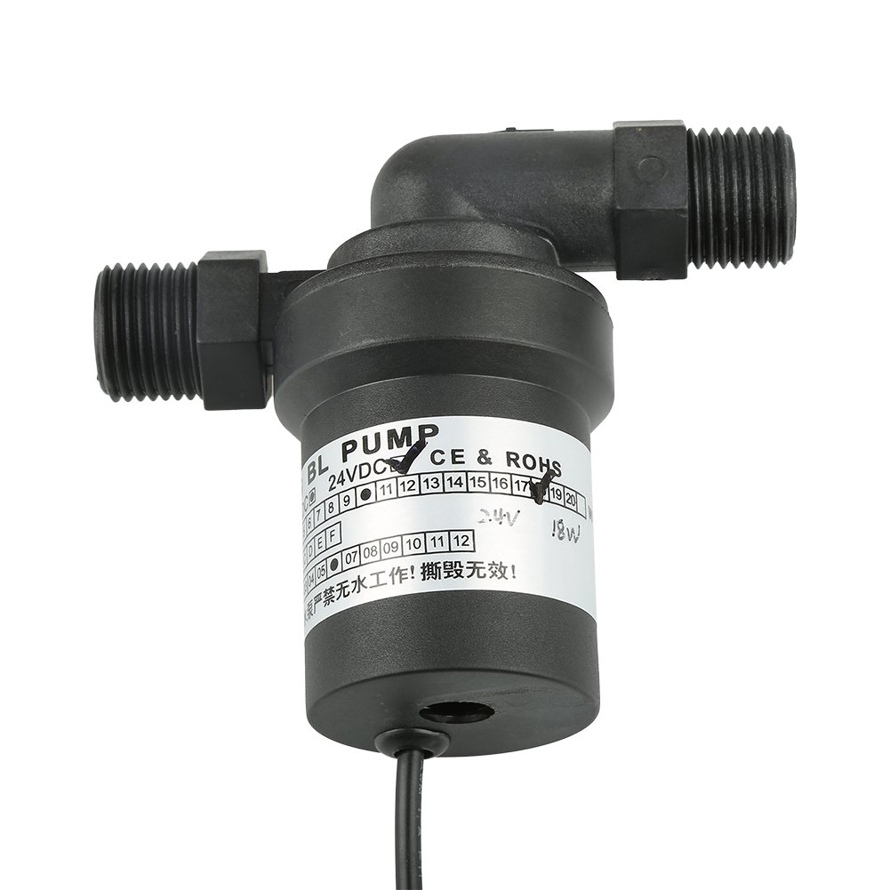 Warmwasserbereiter-Pumpe 1pc DC24V 18W Hochtemperatur-starke schwanzlose Solarpumpe f/ür Solarwarmwasserbereiter-Hei/ßumlauf Warmwasserbereiterpumpe
