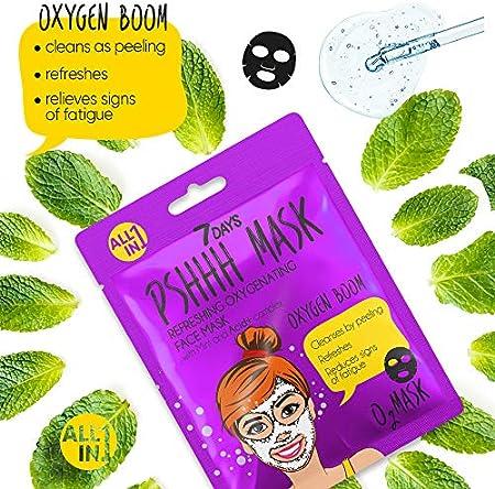Mascarilla Fizz 1 Unidad Bubble Negra O2 Mascarilla de Hoja Purificación Profunda Fórmula de Oxígeno Ácidos AHA Carbón Limpia Los Poros 25g | 7DAYS
