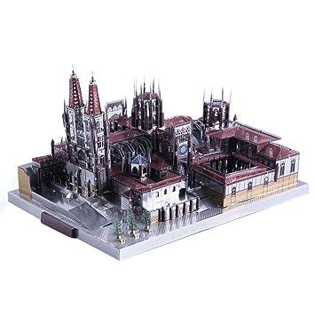 puzzle 3d Burgos Cathedral Modelo 3D Metal Puzzle DIY Ensamble Kits Modelo Juguete para adultos y infantiles: Amazon.es: Bebé